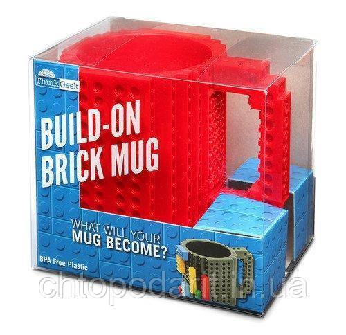 Кружка Лего Lego чашка конструктор 350мл BUILD-ON BRICK MUG Minecraft Код 13-0602