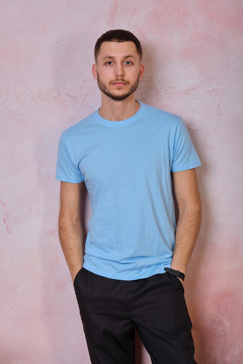 Мужская футболка JHK REGULAR PREMIUM T-SHIRT цвет голубой (SK)