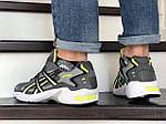 Мужские кроссовки Asics (серо-белые с салатовым), фото 4