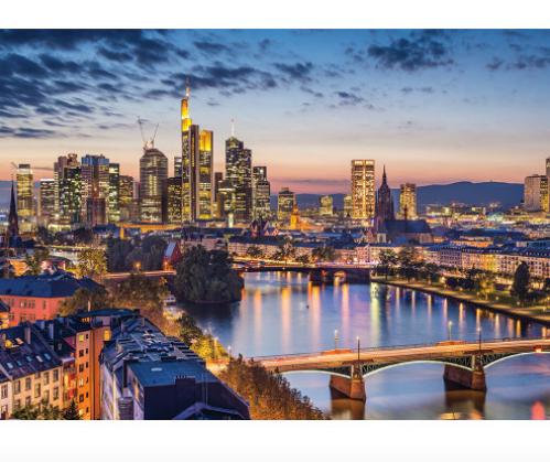 """Пазли """"Вечірнє місто,Франкфурт, Німеччина"""", 1500 елементів Dankotoys."""