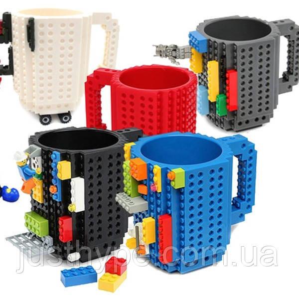 Кружка Лего Lego чашка конструктор 350мл BUILD-ON BRICK MUG Minecraft  Код 13-0551