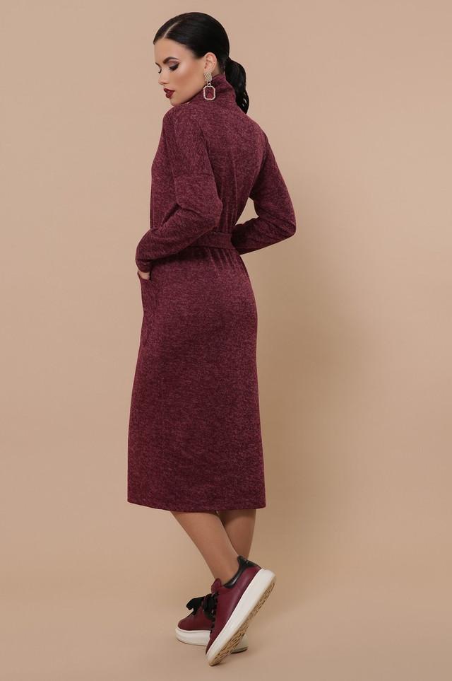 Сукня жіноча дакота з поясом з кишенями тепле длинныое