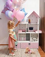 Кукольный домик и комплект мебели из безопасных материалов, ляльковий будиночок, домик для барби