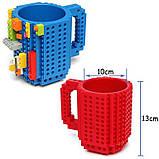 Кружка Лего Lego чашка конструктор 350мл BUILD-ON BRICK MUG Minecraft  Код 13-0589, фото 3