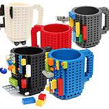 Кружка Лего Lego чашка конструктор 350мл BUILD-ON BRICK MUG Minecraft  Код 13-0589, фото 4