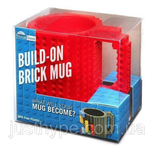 Кружка Лего Lego чашка конструктор 350мл BUILD-ON BRICK MUG Minecraft  Код 13-0593