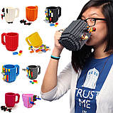 Кружка Лего Lego чашка конструктор 350мл BUILD-ON BRICK MUG Minecraft  Код 13-0593, фото 2