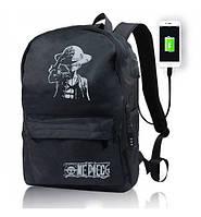 Рюкзак черный NG-0311 светящийся в ночи (выход USB +AUX)