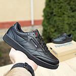 Женские кроссовки Reebok Club (черные) 2952, фото 2