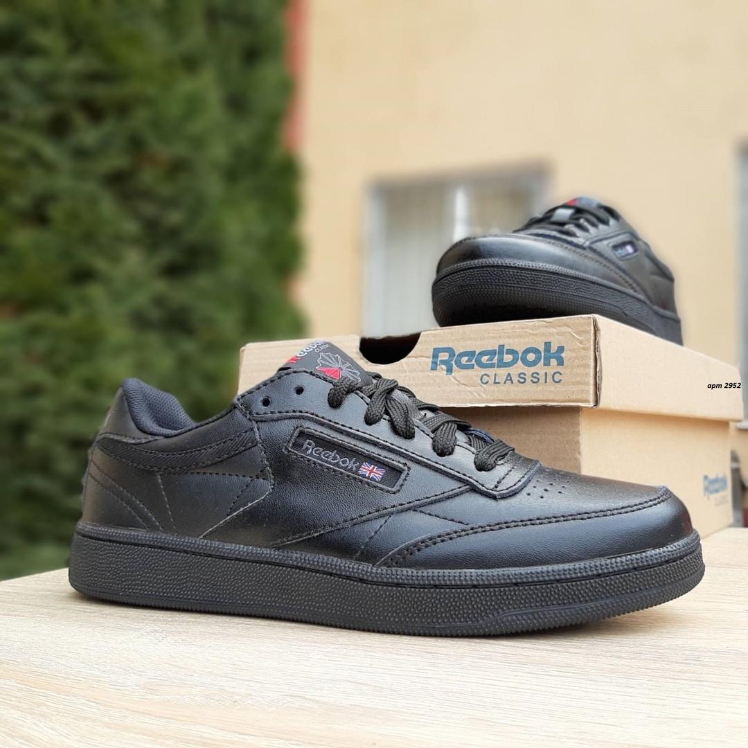 Женские кроссовки Reebok Club (черные) 2952