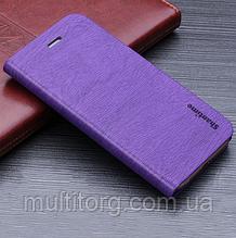 Чехол  для Neffos X1 Lite Чехол Флип кожаный силиконовый фиолетовый