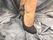 Туфли женские из эко-замша DO3-1 серые 35-40