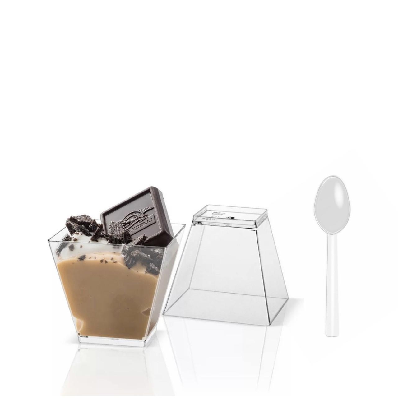 Стаканчик для десертов,трайфлов и напитков с крышкой h7см (200мл)