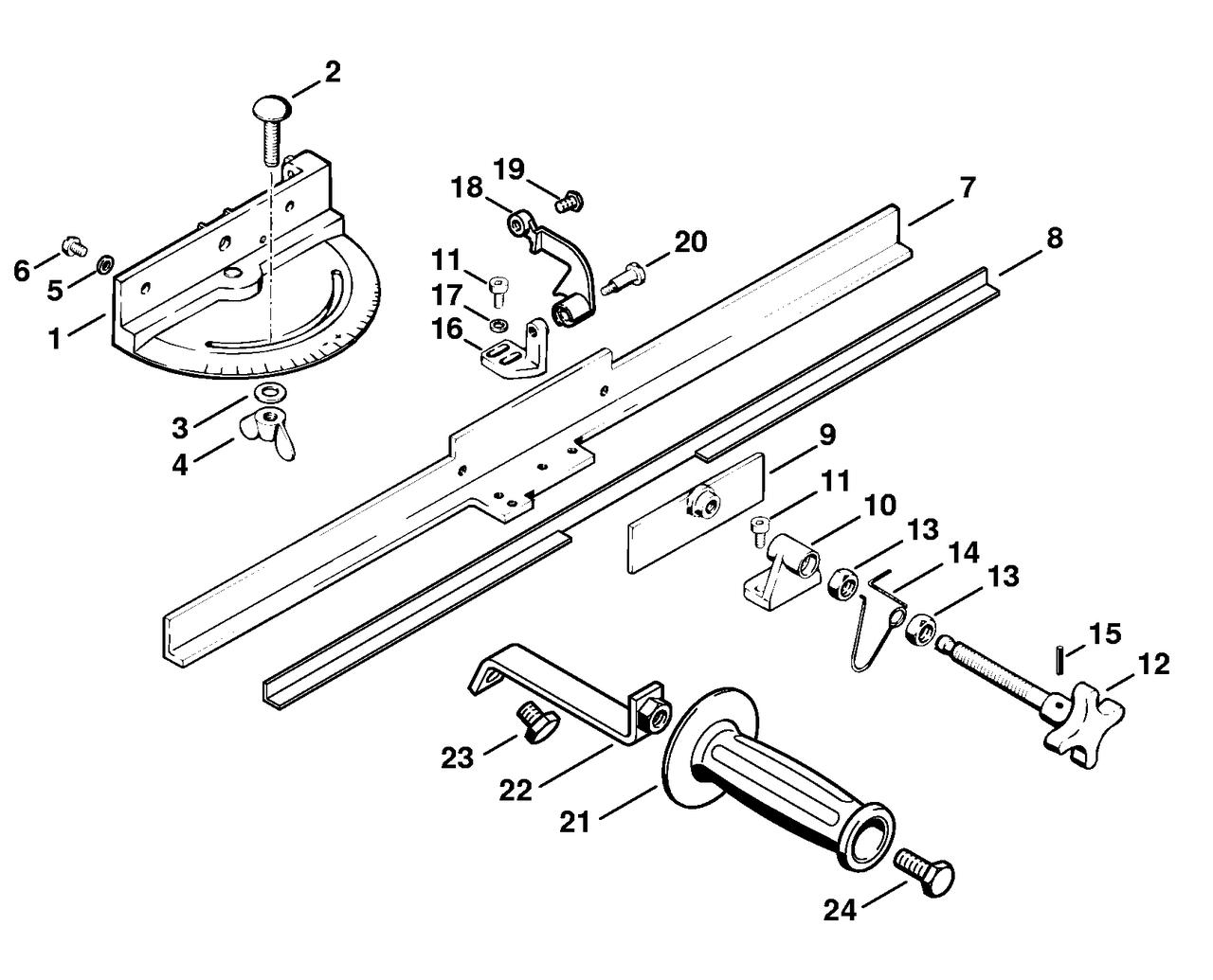 Поворотный суппорт для ножей мотоножниц (52037501400)