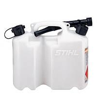 Канистра комбинированная Stihl прозрачная 5 л для топливной смеси и 3 л для цепного масла (00008810)