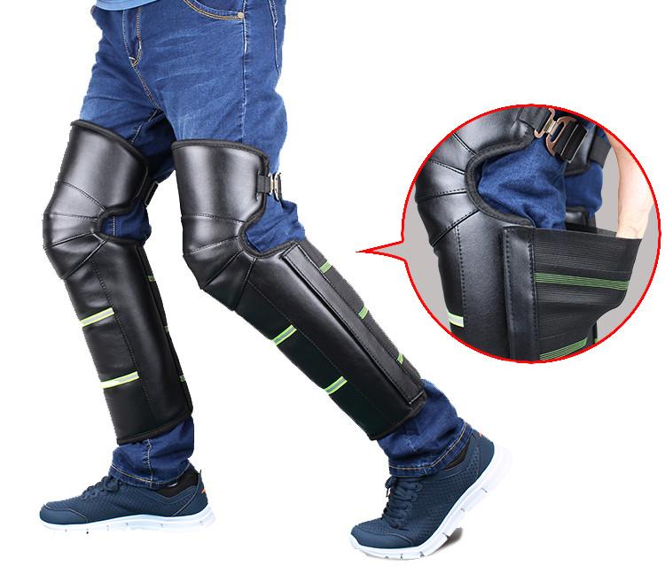 Наколенники зимние ветрозащитные для мотоцикла, велоспорта с светоотражателями Eco-obogrev