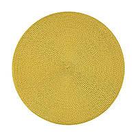 Подставка под горячее, круглая, бледно-желтый