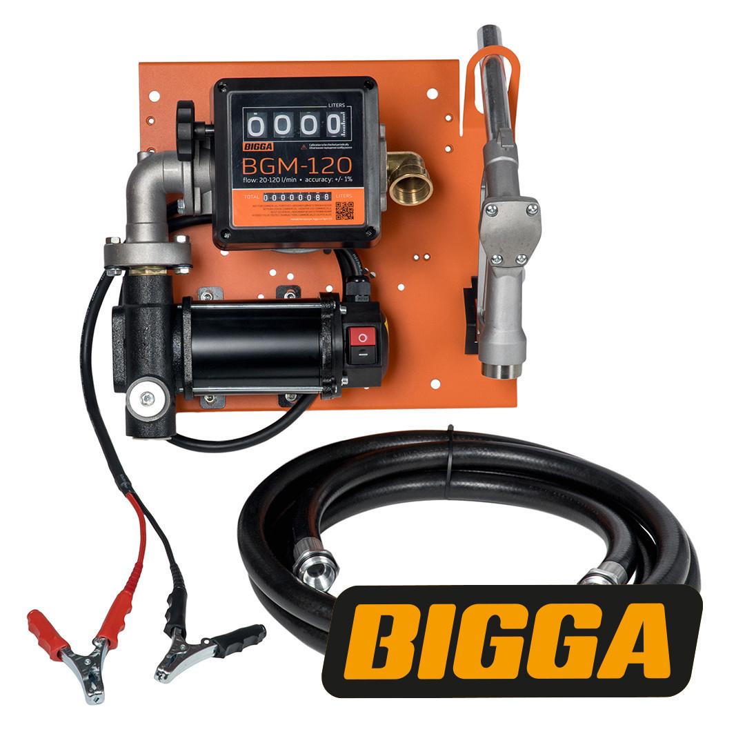Bigga Beta DC80-12 - Мобильная заправочная станция для дизельного топлива с расходомером, 12 вольт, 80 л/мин