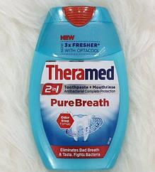 Зубная паста Theramed Pure Breath 2-в-1 с ополаскивателем 75 мл 01238
