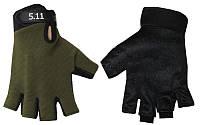 Перчатки тактические 5.11 BC-4379-G(L) (PL, открытые пальцы, р-р L, темно-зеленый)