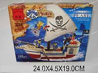 Конструктор Пиратская шхуна, 188 деталей