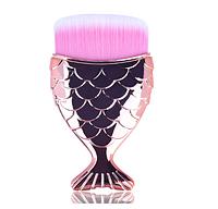 Косметическая кисть для нанесения макияжа! Инструмент для пудры с держателем в виде хвоста русалки!