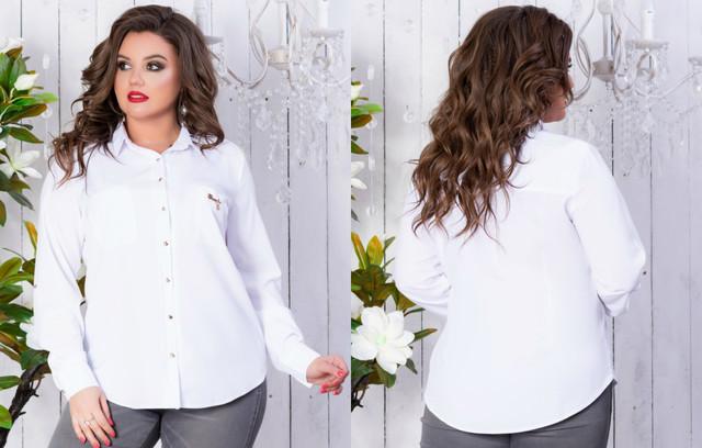 Блузки, рубашки большой размер оптом