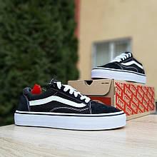 Женские кроссовки Vans (Черно-белые) 2953