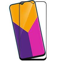 Защитное стекло для Samsung Galaxy A01 A015 ( Самсунг ) клеится по всей поверхности черное Full Glue 2.5D