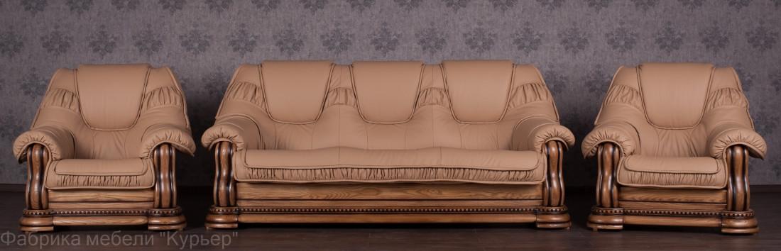 Комплект мягкой мебели Гризли Курьер ткань
