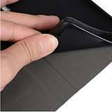 Чехол  для Neffos X1 Lite Чехол Флип кожа+ткань силиконовый черно серый, фото 2