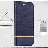 Чехол  для Neffos X1 Lite Чехол Флип кожа+ткань силиконовый черно серый, фото 3