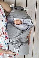 """Конверт-одеяло на выписку """"Бегемотик Мота-Мота"""""""