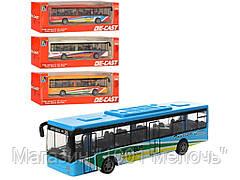 Автобус металлический инерционный 15 см. 1210-1D17