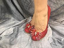 Туфли женские из эко-кожи DO7-1 красные 35-40 ОПТ
