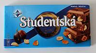 Шоколад Studentska молочный с арахисом и изюмом, 180 г