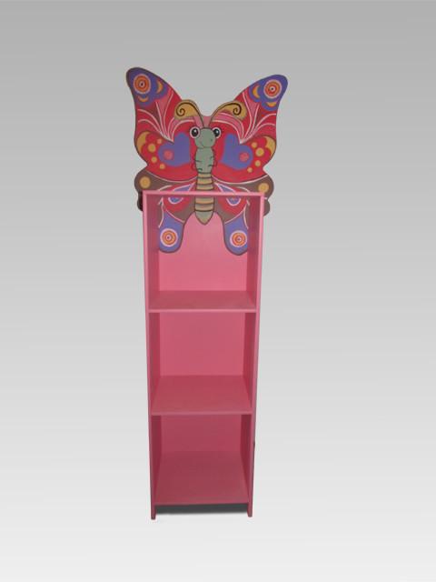 Детский шкаф-пенал с 3-мя открытыми полками Бабочка (162.02)