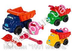 Набор для песочницы №2. TM Doloni Toys 013565. В наборе: машинка, лейка, лопатка, грабли.