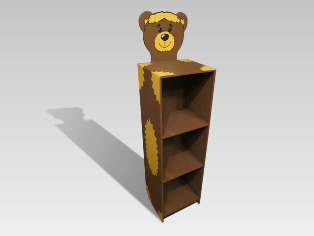Детский шкаф-пенал з 3-мя открытыми полками Медвежонок (162.03)