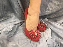Туфли женские из эко-кожи DO7-1 красные 35-40