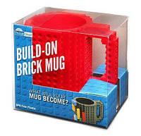Кружка Лего Lego чашка конструктор 350мл BUILD-ON BRICK MUG Minecraft Код 13-0584