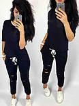 Жіночий повсякденний костюм: футболка і шорти з прорізами (в кольорах), фото 2