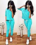 Жіночий повсякденний костюм: футболка і шорти з прорізами (в кольорах), фото 4