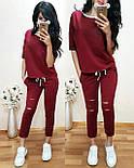 Жіночий повсякденний костюм: футболка і шорти з прорізами (в кольорах), фото 5