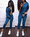 Жіночий повсякденний костюм: футболка і шорти з прорізами (в кольорах), фото 6