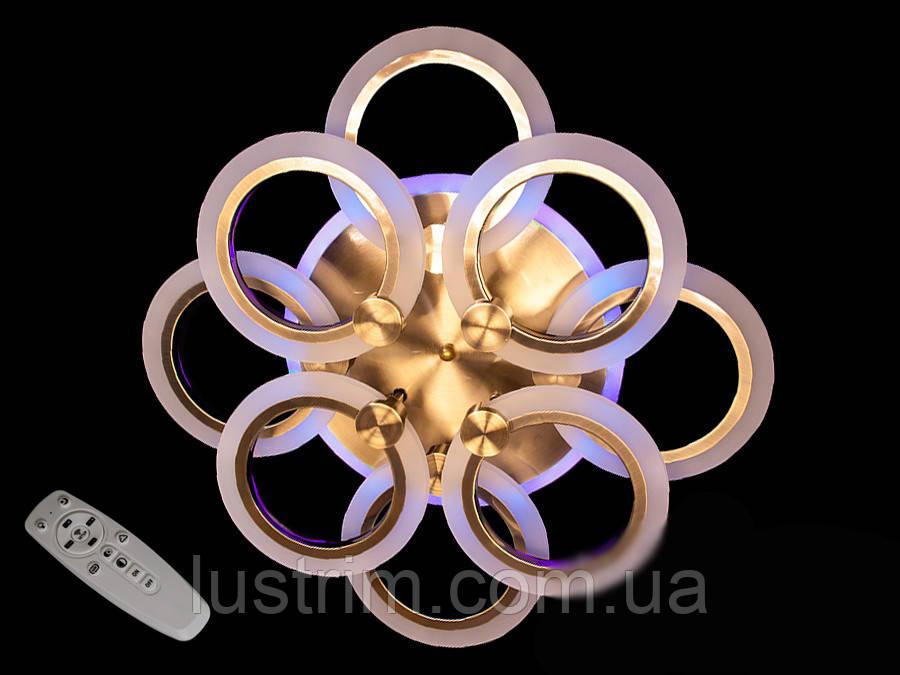 Светодиодная LED-люстра с диммером и цветной подсветкой, 95W