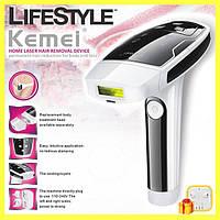 Лазерный эпилятор Kemei KM-6812 с картриджами / Фотоэпилятор + Подарок!