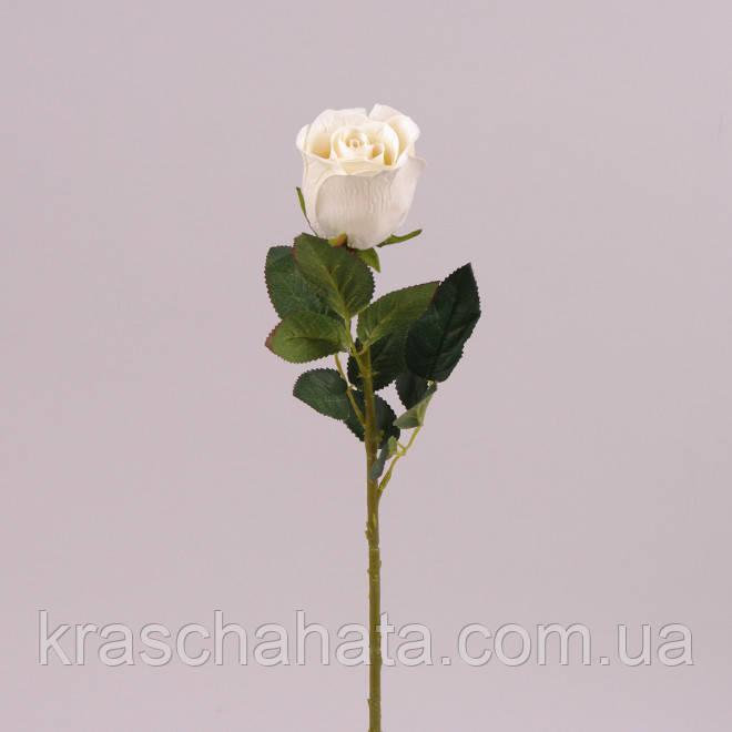 Роза, бутон, Н62 см, крем, Искусственный цветок, Днепр