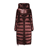 Женское пальто-пуховик теплое зимнее стеганое, бордовое матовый металлик , размеры XS,  S,  M,  L, XL, опт