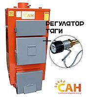 Дровяные котлы с глубокой топкой для топлива САН-ЭКО-М мощностью 25 кВт с механическим регулятором тяги
